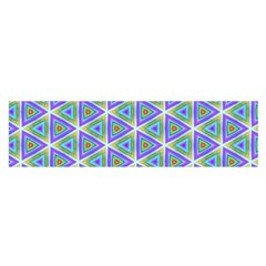 Colorful Retro Geometric Pattern Satin Scarf (Oblong)