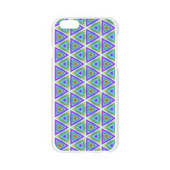 Colorful Retro Geometric Pattern Apple Seamless iPhone 6/6S Case (Transparent)