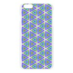 Colorful Retro Geometric Pattern Apple Seamless iPhone 6 Plus/6S Plus Case (Transparent) Front