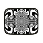 Black And White Ornamental Flower Netbook Case (Small)  Front