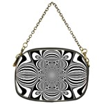 Black And White Ornamental Flower Chain Purses (One Side)  Front