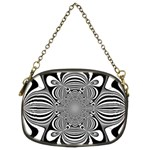 Black And White Ornamental Flower Chain Purses (Two Sides)  Front