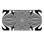 Black And White Ornamental Flower Pencil Cases Back