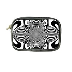 Black And White Ornamental Flower Coin Purse