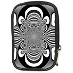 Black And White Ornamental Flower Compact Camera Cases Front