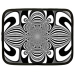 Black And White Ornamental Flower Netbook Case (XL)  Front