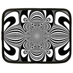 Black And White Ornamental Flower Netbook Case (XXL)  Front
