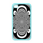 Black And White Ornamental Flower Apple iPhone 4 Case (Color) Front