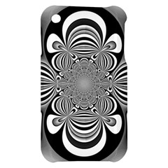 Black And White Ornamental Flower Apple iPhone 3G/3GS Hardshell Case