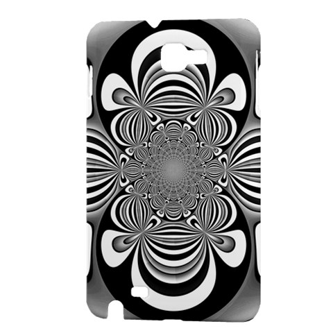 Black And White Ornamental Flower Samsung Galaxy Note 1 Hardshell Case