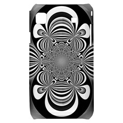 Black And White Ornamental Flower Samsung Galaxy S i9000 Hardshell Case
