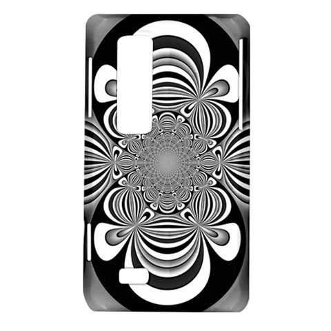 Black And White Ornamental Flower LG Optimus Thrill 4G P925