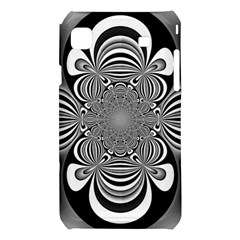 Black And White Ornamental Flower Samsung Galaxy S i9008 Hardshell Case