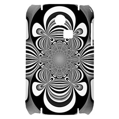Black And White Ornamental Flower Samsung S3350 Hardshell Case