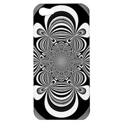 Black And White Ornamental Flower Apple iPhone 5 Hardshell Case