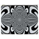 Black And White Ornamental Flower Cosmetic Bag (XXXL)  Front
