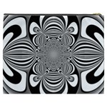 Black And White Ornamental Flower Cosmetic Bag (XXXL)  Back