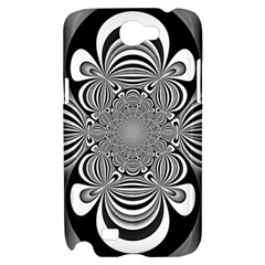 Black And White Ornamental Flower Samsung Galaxy Note 2 Hardshell Case