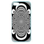 Black And White Ornamental Flower Apple Seamless iPhone 5 Case (Color) Front