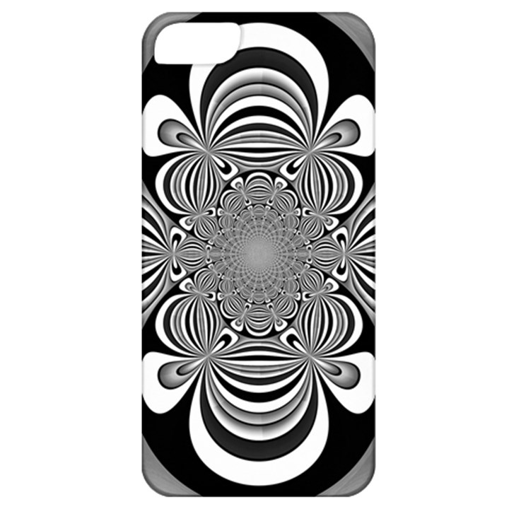 Black And White Ornamental Flower Apple iPhone 5 Classic Hardshell Case