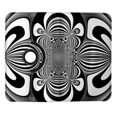 Black And White Ornamental Flower Samsung Galaxy Note II Flip 360 Case
