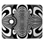 Black And White Ornamental Flower Samsung Galaxy Note II Flip 360 Case Front