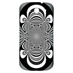 Black And White Ornamental Flower Samsung Galaxy S3 S Iii Classic Hardshell Back Case