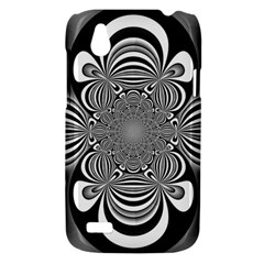 Black And White Ornamental Flower HTC Desire V (T328W) Hardshell Case