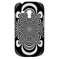 Black And White Ornamental Flower Samsung Galaxy S3 Mini I8190 Hardshell Case