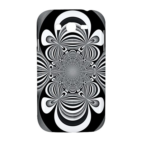 Black And White Ornamental Flower Samsung Galaxy Grand DUOS I9082 Hardshell Case
