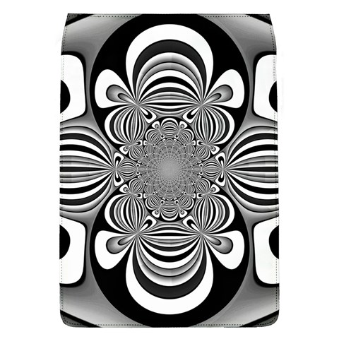 Black And White Ornamental Flower Flap Covers (L)