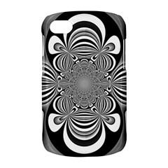 Black And White Ornamental Flower BlackBerry Q10