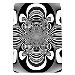 Black And White Ornamental Flower Flap Covers (s)