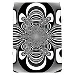 Black And White Ornamental Flower Flap Covers (S)  Front