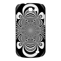 Black And White Ornamental Flower Samsung Galaxy Express I8730 Hardshell Case