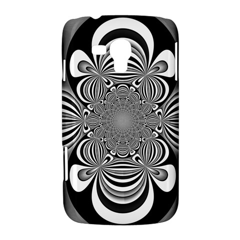 Black And White Ornamental Flower Samsung Galaxy Duos I8262 Hardshell Case