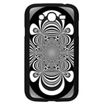 Black And White Ornamental Flower Samsung Galaxy Grand DUOS I9082 Case (Black) Front
