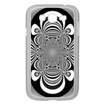 Black And White Ornamental Flower Samsung Galaxy Grand DUOS I9082 Case (White) Front