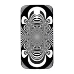 Black And White Ornamental Flower Samsung Galaxy S4 I9500/I9505  Hardshell Back Case Front