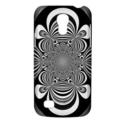 Black And White Ornamental Flower Galaxy S4 Mini