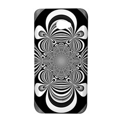 Black And White Ornamental Flower HTC Butterfly S/HTC 9060 Hardshell Case