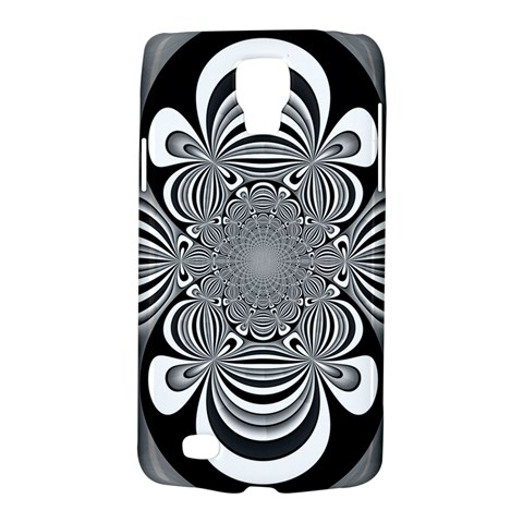 Black And White Ornamental Flower Galaxy S4 Active