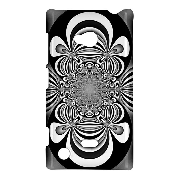 Black And White Ornamental Flower Nokia Lumia 720