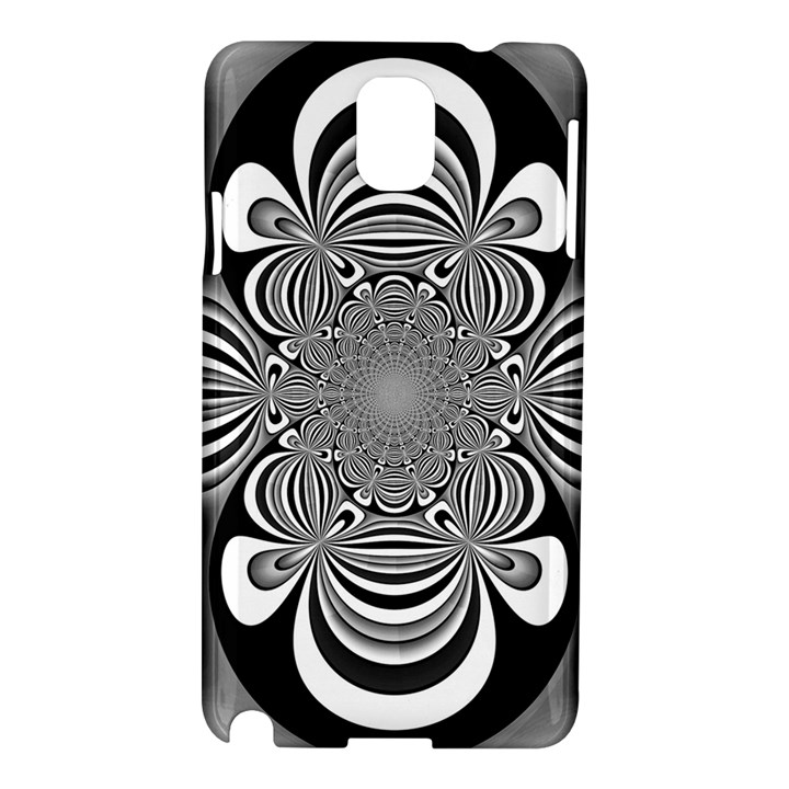 Black And White Ornamental Flower Samsung Galaxy Note 3 N9005 Hardshell Case