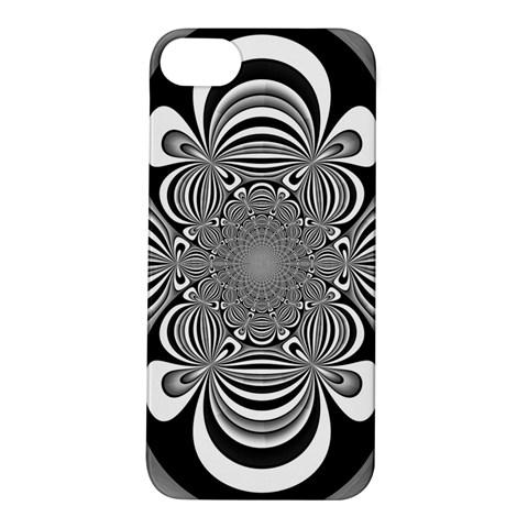 Black And White Ornamental Flower Apple iPhone 5S/ SE Hardshell Case