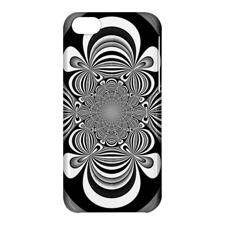 Black And White Ornamental Flower Apple iPhone 5C Hardshell Case