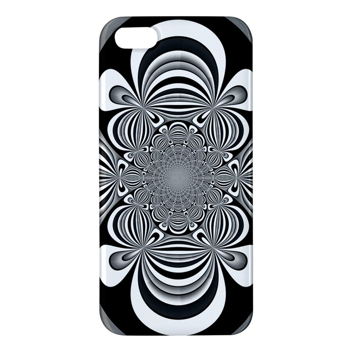 Black And White Ornamental Flower iPhone 5S/ SE Premium Hardshell Case