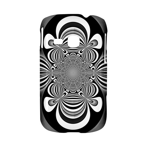 Black And White Ornamental Flower Samsung Galaxy S6310 Hardshell Case