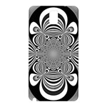 Black And White Ornamental Flower Samsung Galaxy Note 3 N9005 Hardshell Back Case Front