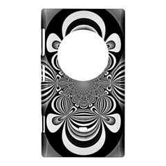 Black And White Ornamental Flower Nokia Lumia 1020